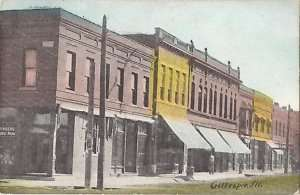 Illinois, IL, Gillespie, Early Street Scene Postcard