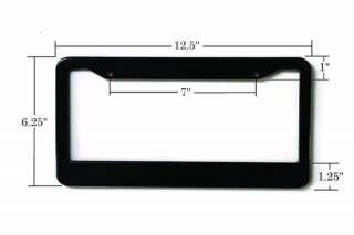 Glossy Chrome Blank License Plate Frame custom Plastic frames