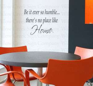 Humble Home Art Vinyl Wall Lettering Words Decal Quote