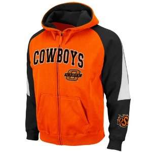 Oklahoma State Cowboys Orange Black Playmaker Full Zip