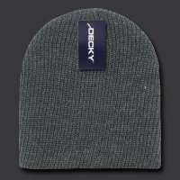 NAVY BLUE KNIT SHORT WATCH CAP SKI BEANIE CAPS HAT