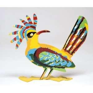 Signed Safed (Zfat) Bird Modern Israeli Art By David
