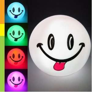 Color Changing LED Smiley Ball Mood Lamp Night Light Kid Baby