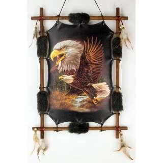Large 22 x 16 Framed Flying Eagle Dream Catcher Wall Decor