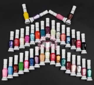 New 36 Colors 2 Way Nail Art Brush Pen Varnish Polish