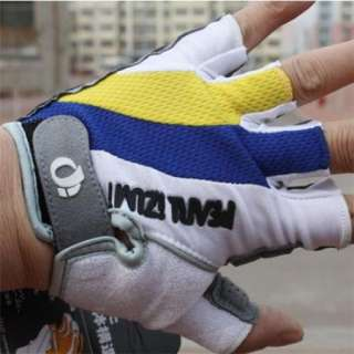 2012 Cycling Bicycle bike GEL Silicone half finger gloves Yellow Size