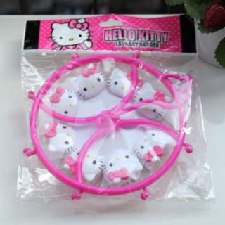 Hello Kitty Plastic Cute Clothes Rack Clothes Hanger Pink 1pc