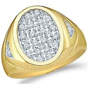 Set Round Cut Mens Diamond Wedding Ring Band 15mm (1/4 cttw) Jewelry