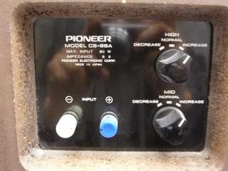 VINTAGE PIONEER CS 88A CS88A 30   25,000 HZ 4 WAY FLOOR AUDIO SPEAKERS