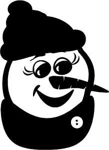 Snowman Face Winter Wall Sticker Vinyl Decal Decor Art