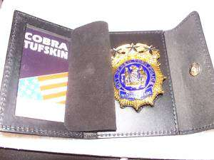 NYPD Chiefs Style Badge Cut Out & ID Card Snap Wallet