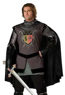 Mens Medieval Knight Adult Renaissance Fair Fancy Dress Costume