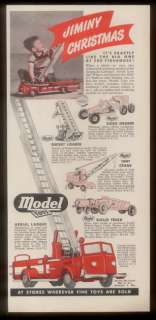 American LaFrance aerial ladder fire truck crane road grader ad