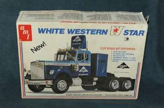 White Western Star 1/25 scale Tractor Trailer Semi Truck Model |