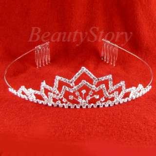 SHIPPING rhinestone crystal crown tiara headband wedding bridal