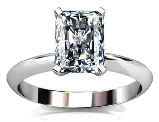 00Ct RADIANT CUT ENGAGEMENT RING 14K SOLID GOLD