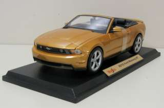2010 Ford Mustang GT Diecast Model   Gold   Maisto 118