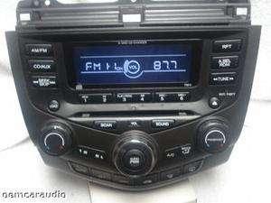 Honda Accord EX Radio AUX  Player 6 CD Changer 7BK0 2003 03