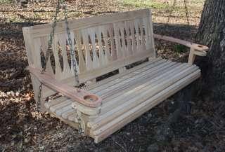 Build Wood Yard Swing 2 Bench Glider w Canopy DIY Plans