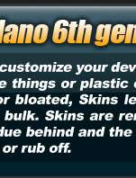 Apple iPod Nano 6th generation skin case cover Skins video bundle Skin