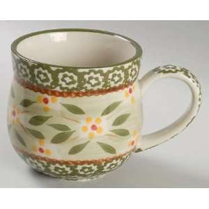 Temp Tations Old World Green Mug, Fine China Dinnerware