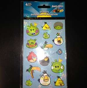 Angry Birds Stickers 4 sheets, 60 stickers, NIP, Christmas Stocking