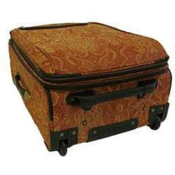 American Flyer Gold Paisley 4 piece Luggage Set