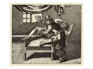Fearful Patient is Restrained on a Low Couch and Castrated Giclee