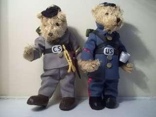 NEW CIVIL WAR TEDDY BEAR SET UNION + CONFEDERATE 11 BEARS