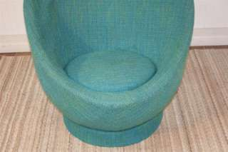 Vtg Mid Century Danish Modern Space Age Original Upholstered Egg Chair