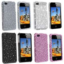 Silver Diamond Snap on Case for Apple iPhone 4