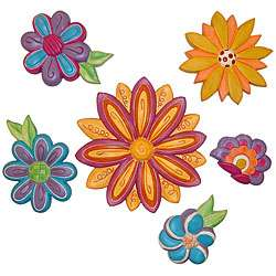 Outer Edges Groovy Flowers Wall Art