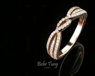 T090001R2 18K750 Rose Gold Diamonds Ring
