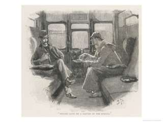 Silver Blaze Holmes and Watson in a Railway Compartment Giclee Print