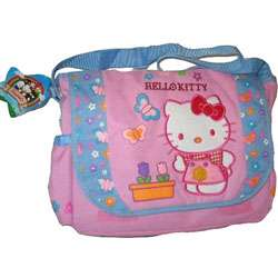Hello Kitty Pink and Blue Messenger Book Bag