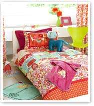 Girls Bedding Cat Duvet or Curtains or 5pc Room Set