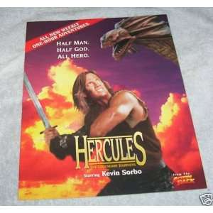 HERCULES KEVIN SORBO PROMOTIONAL ONE SHEET RARE
