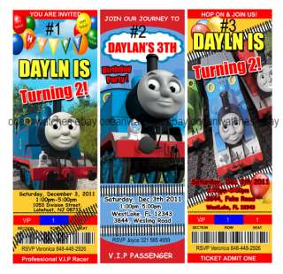 THOMAS The Train Birthday Party Invitations Tickets New Personalized