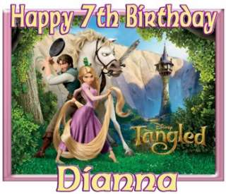 Rapunzel Disney Custom Personalized Birthday Party Supplies T Shirt
