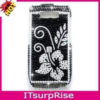 Bling Silver Flower Diamond Hard Case Cover 4 Nokia E71