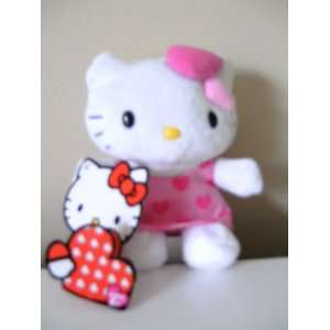 Hello Kitty Valentine 5 Plush with Pink Hearts Dress  Toys & Games