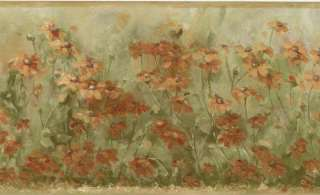 Wild flower Daisy Floral Meadow Wall paper Border 058559763242