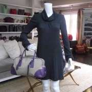 PRADA Canapa Cinghiale Logo Bowler Bag Purse Purple