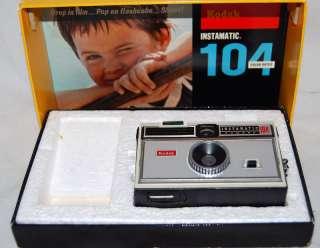 Vintage Kodak Instamatic 104 Camera with Original Box