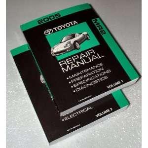 MR2 Factory Repair Manuals (ZZW30 Series, 2 Volume Set) Toyota Motor