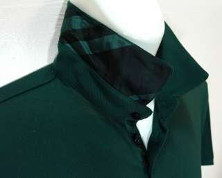 NEW NWT Mens Burberry London Modern Polo Shirt Jarrod Racing Green sz
