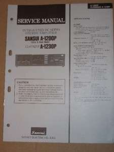 Sansui Service/Repair Manual~A 1200P/A 1230P Amplifier