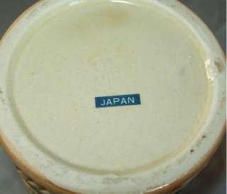Vintage Ceramic Beer Stein Japan Castle & People Scene