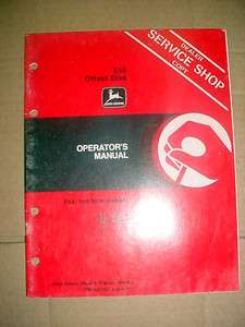 JOHN DEERE 555 OFFSET DISK OPERATORS MANUAL
