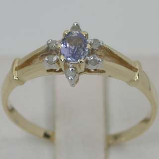 30 CARATS 14K SOLID YELLOW GOLD NATURAL AA TANZANITE SOLITAIRE DIAMOND